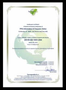 Certificato FPA - 14001-p1