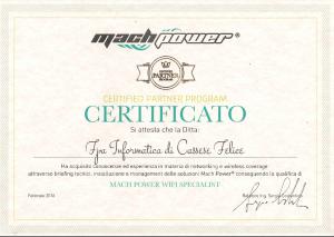 FPA Informatica - certificato Mach Power