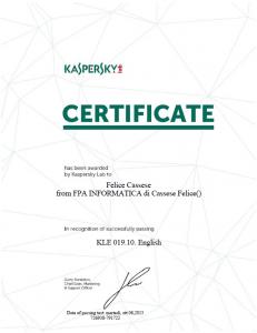 FPA Informatica - Kaspersky