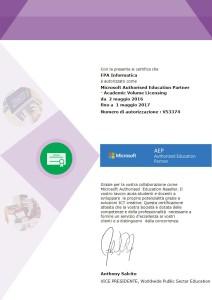 Certificato FPA Informatica